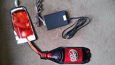 Unique Illuminated Animated Flexible Dr. Pepper Sign-Collectable