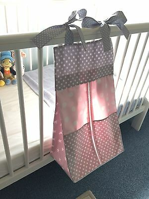 Pink Baby Nappy Stacker/Holder