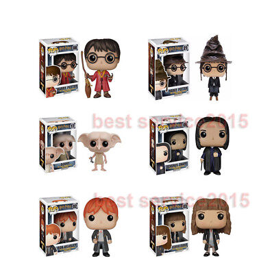 Exclusive Pop Movies Harry Potter - Harry Potter Ron Weasley Hermione Dobby Toy