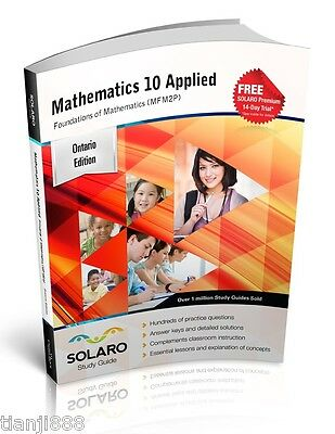 SOLARO Study Guide - Ontario Math 10 Applied, Foundations of Mathematics (MFM2P)
