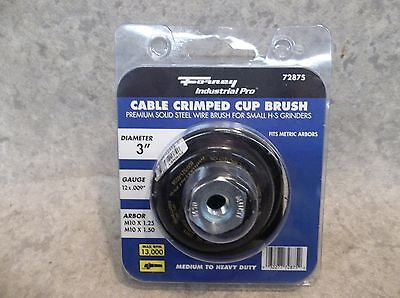 """NEW Forney 72875 3"""" Cable Crimped Cup Brush.. Industrial Pro"""