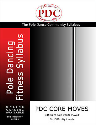 PDC Pole Dance Syllabus Core Moves Book Black and White
