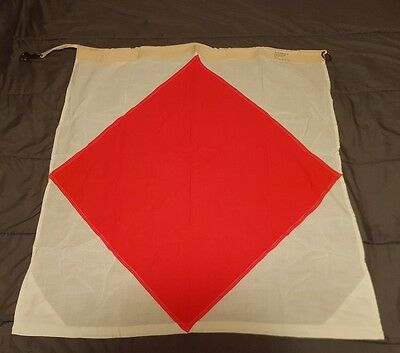 "Vintage Navy Nautical SIGNAL FLAG 36""×36"" LETTER ""F"" - Naval Marine USA Made"