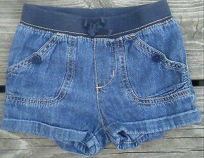 TODDLER GIRLS BLUE DENIM SHORTS by THE CHILDREN'S PLACE SIZE 3T