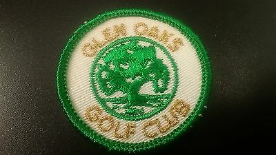 Vintage Glen Oaks Country Golf Club Golf Sew On Patch NOS