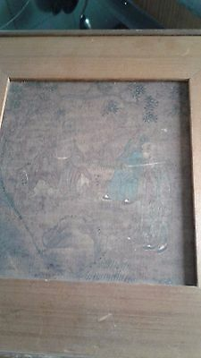 old Chinese painting on silk