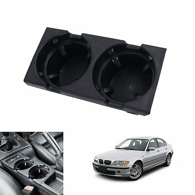 Black Front Console Center Cup Drink Coffee Holder For 98-06 BMW 3-Series E46 M3