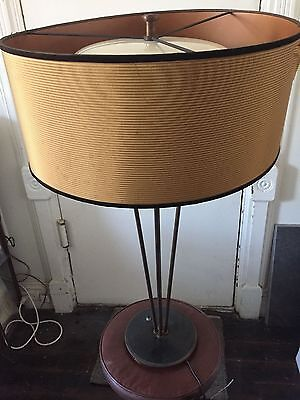 Mid Century Table Lamp BRASS AND METAL