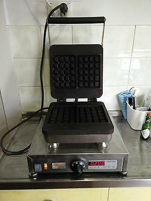 Belgian commercial Silex waffle machine t-521 with digital timer.