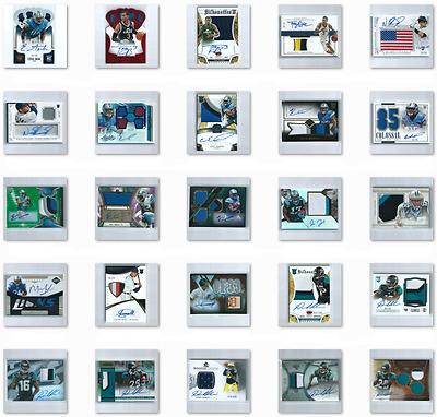 HUGE Lot of 300 Rookie Jersey Patch Autograph Baseball Basketball Football Cards