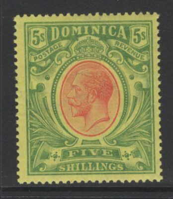 Dominica Sg54 1914 5/= Red & Green/yellow Mtd Mint
