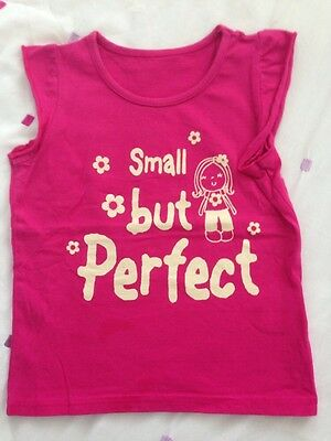 Girls Toddler T-shirt Small But Perfect Age 18-23 Months Pink