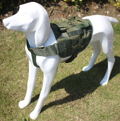 Tactical Military Army Molle Service Dog Vest Harness Canine Training Vest