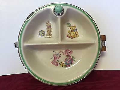 Vintage 1940s Baby Warming Plate