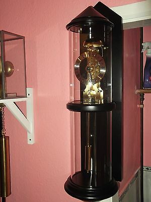 Rare Hermle Glass Cylinder Passing Strike Wall Clock