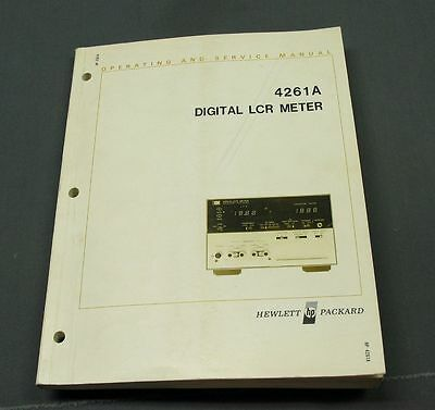Hewlett Packard HP 4261A LCR Meter Operating / Service Manual with schematics