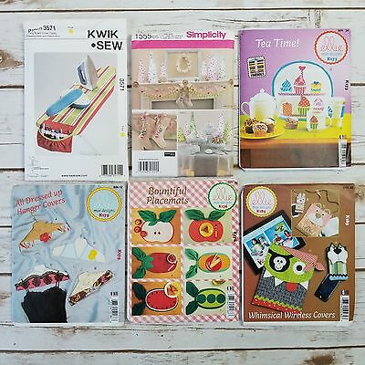Lot 6 Mixed Sewing Patterns Covers Stocking More Ellie Kwik Sew Simplicity Uncut