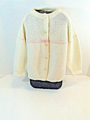 Vtg=1950's=Child's Sweater-Cardigan=Label Intact Byjanie=100% Acrylic-Orlon