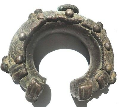 African Tribal  Dogon Jewelry Currency Trade Money Bronze Bracelet  Bangle. Rare