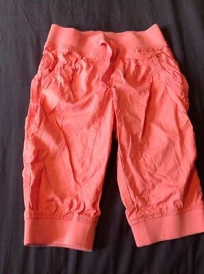 Next Girls NWOT Pink Cropped Trousers Shorts Summer Outfit 6 Years