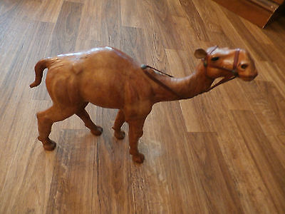 Paper Mache Leather Wrapped Camel