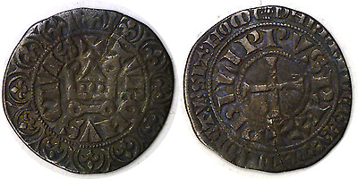 "1285-1314 Philip IV Le Bel ""The Fair"" Silver Gros Tournois"
