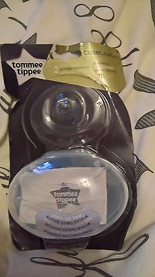 tommee tippee closer to nature pack of two nipples shields bnip