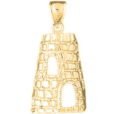10k or 14k Yellow Gold Stunning 2.2cm Long St Croix Sugar Mill Iconic Pendant