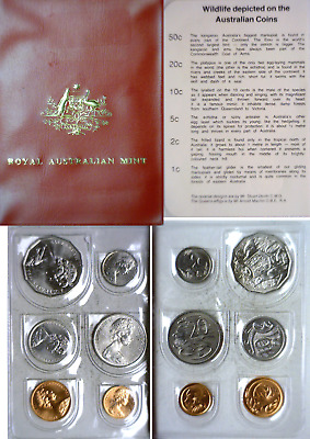 1983 Australia 6 Coin Mint Set Original Soft Plastic Folder MS16