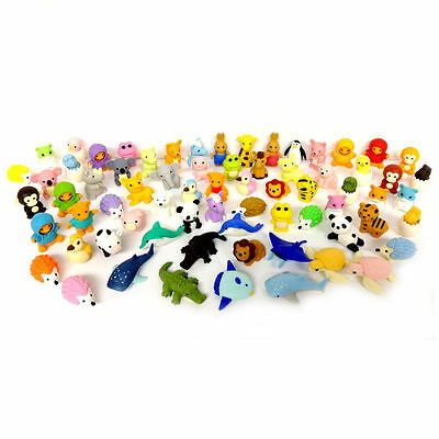 Iwako Erasers Animal Overstock (Pack of 20) including a Unicorn Eraser