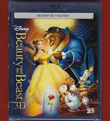 3D + 2D Beauty and the Beast Blu-Ray _ New sealed