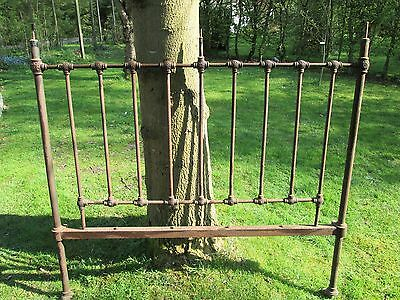 Metal vintage cast iron double bed head antique
