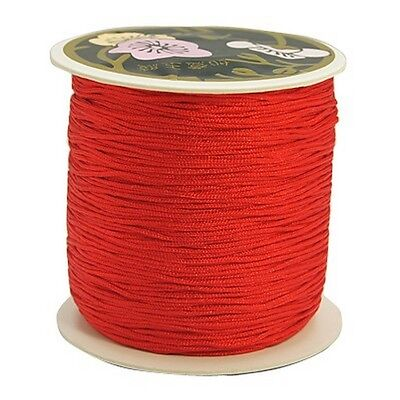 3 M RED Nylon String Cord Thread for  Jewelry Making 0.8mm dia(NWIR-C036-700)