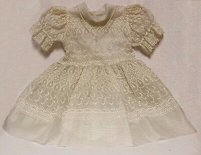 Antique Baptism Gown (Size 5) with Attached Rosary