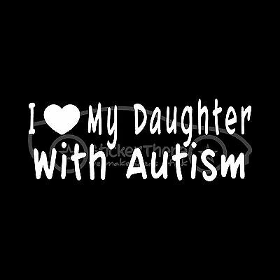 I LOVE MY NEPHEW WITH DOWN SYNDROME Sticker Aunt Uncle Decal Child Awareness DS