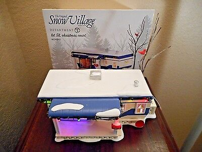 Dept 56 Snow Village Lot 58 Christmas Court New In Box