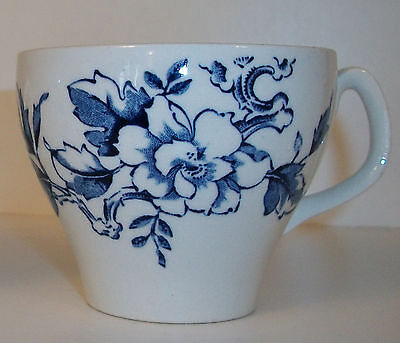Wood & Sons 'Ashbourne' Blue & White Floral Cup Burslem England