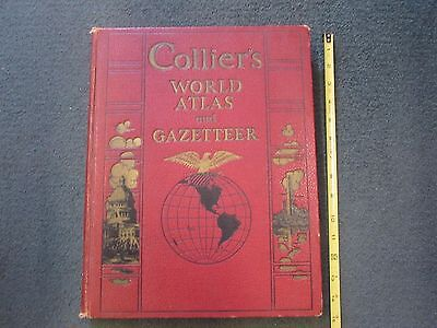1936  COLLIER'S WORLD ATLAS & Gazetteer incl Star Maps & much more