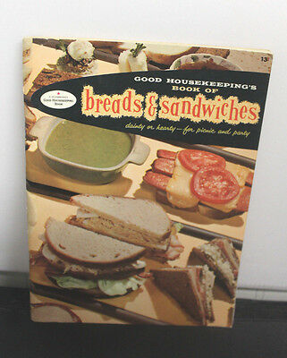 Vintage 1958 Good Housekeeping Book Of Breads And Sandwiches Cookbook Recipes