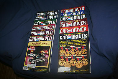 Vintage Car And Driver Magazines 1985 Complete Set Of 12