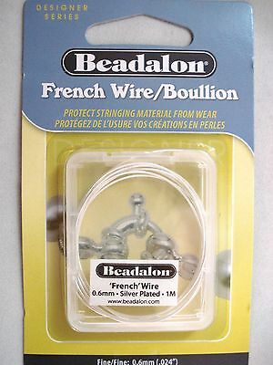 Beadalon Designer Series 'French' Wire Silver Plated Jewellery FREE POSTAGE