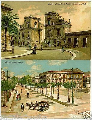 1900s PALERMO SICILY ITALY 14 ARTIST SIGNED POSTCARDS