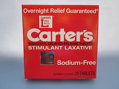 Carter's Overnight Relief  25 Tablets  Expiration 2016 - FREE SHIP -Collectible