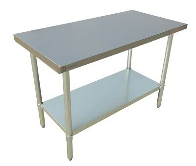 "EQ Stainless Steel Restaurant Kitchen Prepare Work Surface Table 72""X24""X34"""