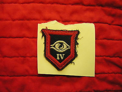 Uniform Removed 4Th Guards Armored Division  Formation Sign British Army Wwii