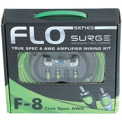 SURGE F-8 Flo Series Amp Installation Kit (8 Gauge, 800 Watts)