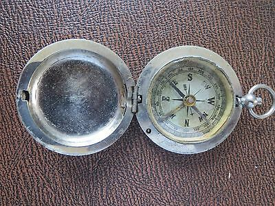 Vintage Pocket Watch Style Metal Compass Made in Germany