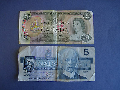 Canadian Exchange bills, 25 dollars   AA-5