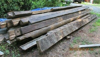 Large Lot : Reclaimed American Chestnut Large Beams (half trees) TAKE ALL