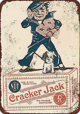 "9"" x 12"" Metal Sign - 1918 Cracker Jack Candy - Vintage Look Reproduction 2"